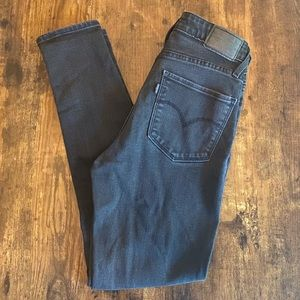 Levi's 721 high rise skinny faded black